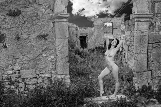 Ruins w.clouds greek goddess 1100px